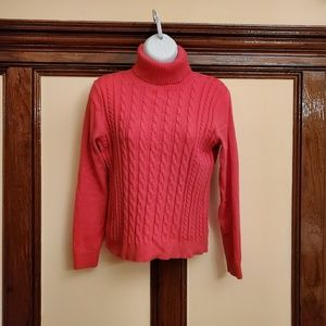 Lands'end fuccia sweater, long sleeve, size S/P.